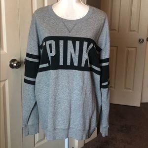 PINK Victoria Secret Gray Long Sleeve sweatshirt
